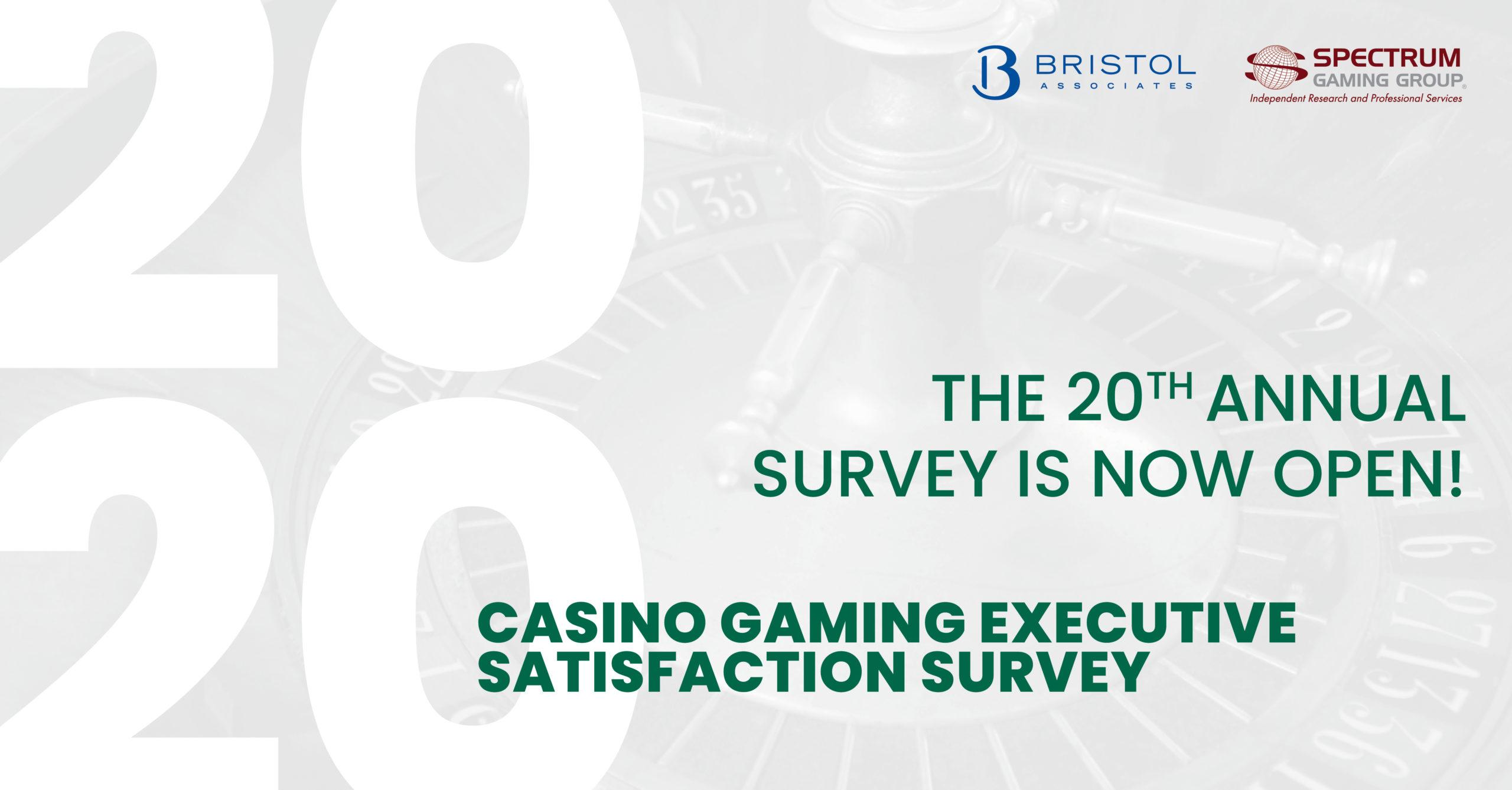 Casino Gaming Executive Satisfaction Survey 2020