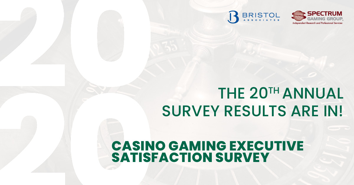The Results Are In: 20th Annual Casino Gaming Executive Satisfaction Survey